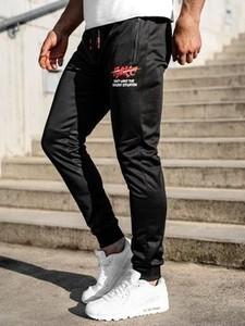 Czarne spodnie sportowe Denley z dresówki