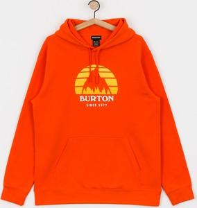 Czerwona bluza Burton z bawełny