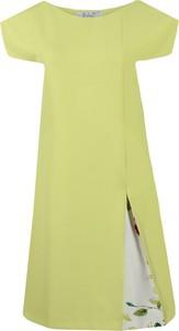 Sukienka Fokus w stylu klasycznym midi z krótkim rękawem