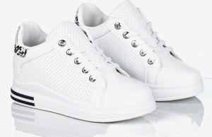 Buty sportowe Royalfashion.pl z płaską podeszwą