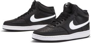 Buty sportowe Nike z płaską podeszwą sznurowane ze skóry