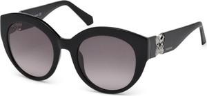 Czarne okulary damskie Swarovski