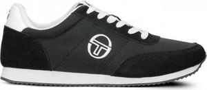 Czarne buty sportowe sergio tacchini sznurowane w sportowym stylu