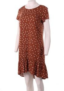 Sukienka Niren midi z krótkim rękawem z okrągłym dekoltem