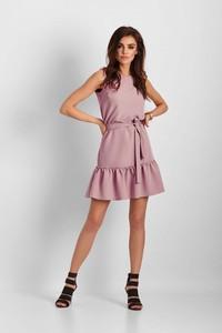 Sukienka Ivon z okrągłym dekoltem rozkloszowana bez rękawów