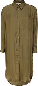 Sukienka Soft Rebels z długim rękawem koszulowa w stylu casual