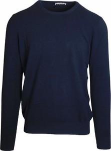 Niebieski sweter J.w.sax Milano w stylu casual