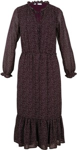 Sukienka bonprix z długim rękawem midi