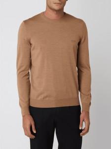 Sweter Hugo Boss w stylu casual z okrągłym dekoltem