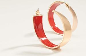 Mohito - Okrągłe kolczyki - Czerwony