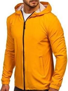 Żółta kurtka Denley w stylu casual krótka