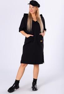 Sukienka Ptakmoda.com sportowa midi z długim rękawem