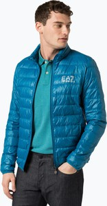 Niebieska kurtka EA7 Emporio Armani w stylu casual