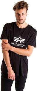 Czarny t-shirt Alpha Industries z bawełny