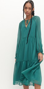 Zielona sukienka Reserved z tkaniny