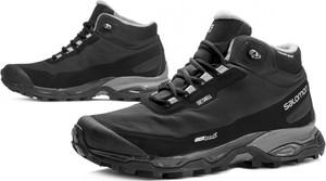 Czarne buty zimowe Salomon sznurowane