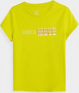 Koszulka dziecięca 4F dla dziewczynek z krótkim rękawem z bawełny