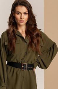 Zielona koszula Renee z kołnierzykiem w stylu casual