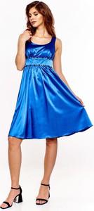 Sukienka Fokus trapezowa z tkaniny
