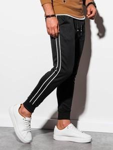 Czarne spodnie sportowe Ombre z dresówki w sportowym stylu