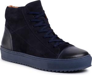 Granatowe buty zimowe eobuwie.pl
