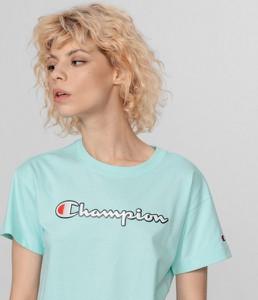 T-shirt Champion w sportowym stylu z krótkim rękawem z bawełny
