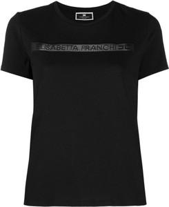 T-shirt Elisabetta Franchi z krótkim rękawem z bawełny