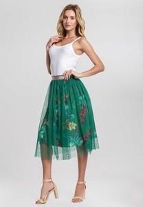 Zielona spódnica Renee midi z dzianiny