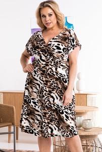 Sukienka KARKO w stylu casual dla puszystych maxi