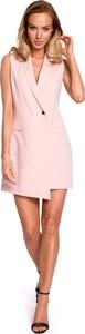 Różowa sukienka MOE bez rękawów