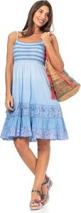 Niebieska sukienka Peace & Love mini