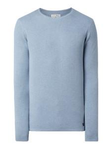 Niebieski sweter Tom Tailor Denim z bawełny