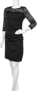 Czarna sukienka Meaneor z długim rękawem mini