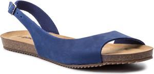 Granatowe sandały Gino Rossi