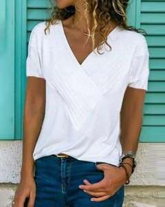 Bluzka Kendallme z krótkim rękawem z bawełny w stylu casual