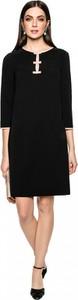 Czarna sukienka L'AF z długim rękawem