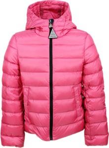 Różowa kurtka dziecięca Moncler dla dziewczynek