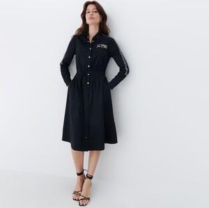 Czarna sukienka Mohito z bawełny w stylu casual