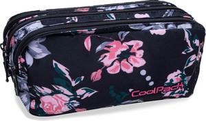 Saszetka trzykomorowa CoolPack CP PRIMUS DARK ROMANCE czarny w kwiaty