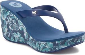 Niebieskie klapki Zaxy w stylu casual