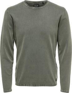 Zielony sweter Only & Sons z dzianiny