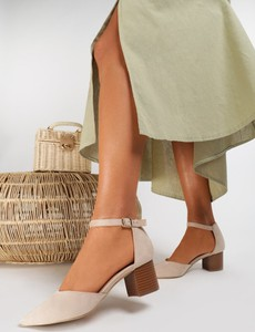Sandały Renee na obcasie z klamrami