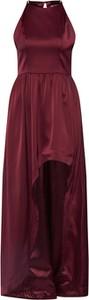 Czerwona sukienka Chi Chi London asymetryczna bez rękawów maxi
