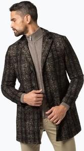 Płaszcz męski Finshley & Harding w geometryczne wzory z wełny