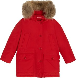 Czerwona kurtka dziecięca Woolrich