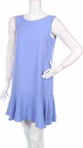 Fioletowa sukienka Raspberry z okrągłym dekoltem bez rękawów w stylu casual