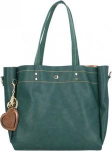Niebieska torebka Chiara Design z breloczkiem duża