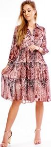 Sukienka Norbi w stylu casual koszulowa z długim rękawem
