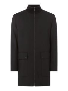 Czarny płaszcz męski Hugo Boss z wełny