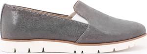 Zapato półbuty - skóra naturalna - model 252 - kolor szary